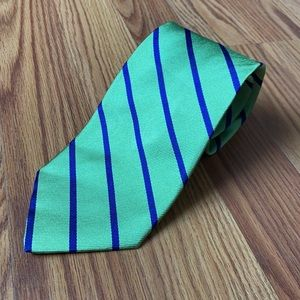 J. Crew 100% Silk Tie Green Blue